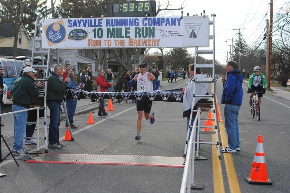 Conor Shelley, 24, of Rockville Center finished first