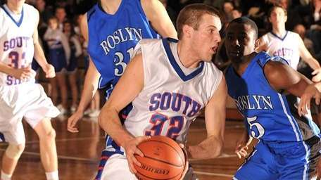 South Side's Ryan Spadaford looks for an opening