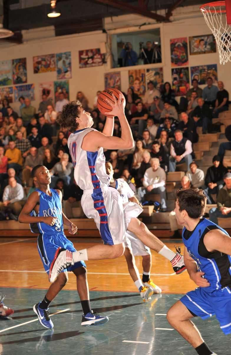 South Side's Nicholas Bruno leaps to the basket.