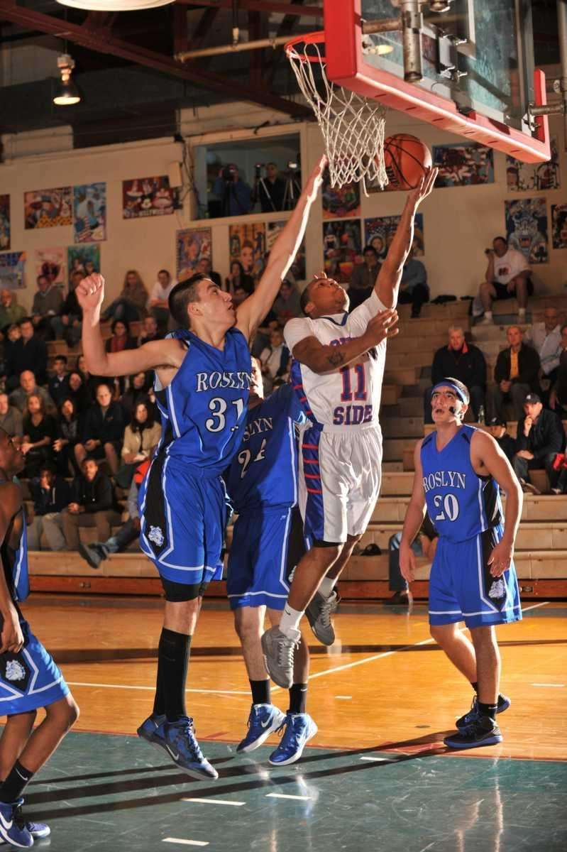 South Side's Darren Nicholson goes up for a