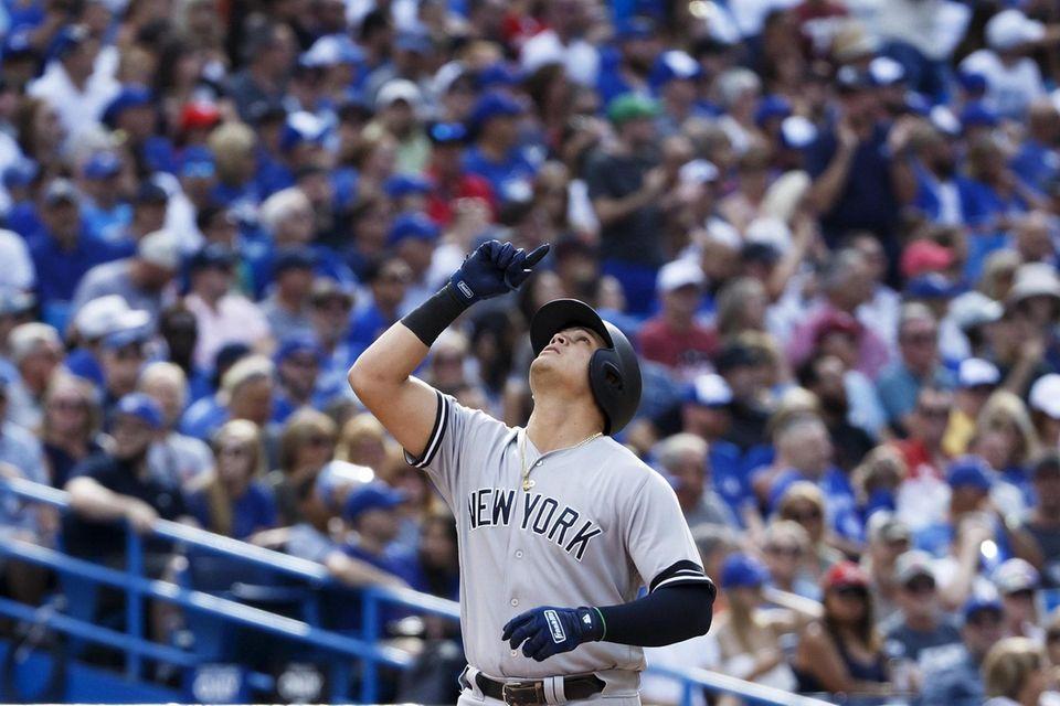 Gio Urshela #29 of the New York Yankees