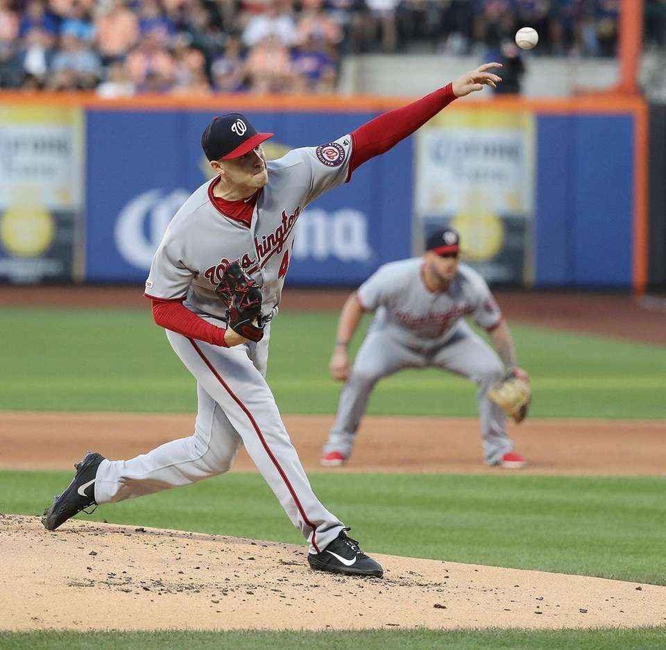 Washington Nationals starting pitcher Patrick Corbin (46) delivers