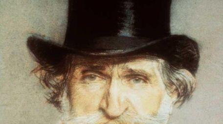 Portrait of Italian composer Giuseppe Verdi by Giovanni