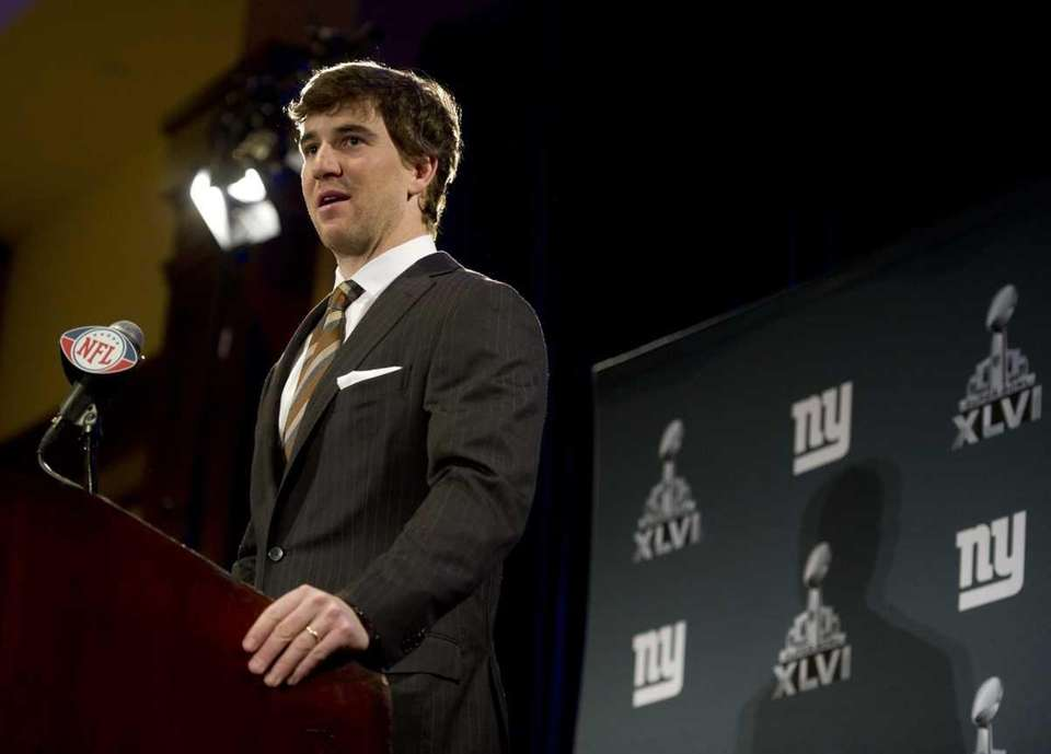 New York Giants QB Eli Manning addresses the