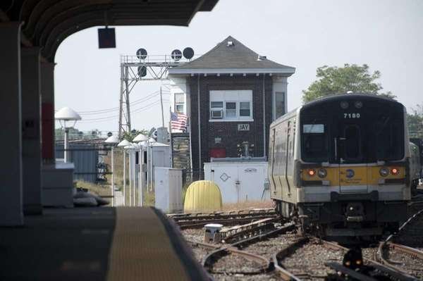 A file photo of the LIRR tracks near