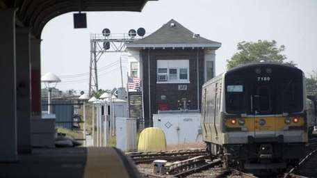 A file photo of the LIRR tracks near