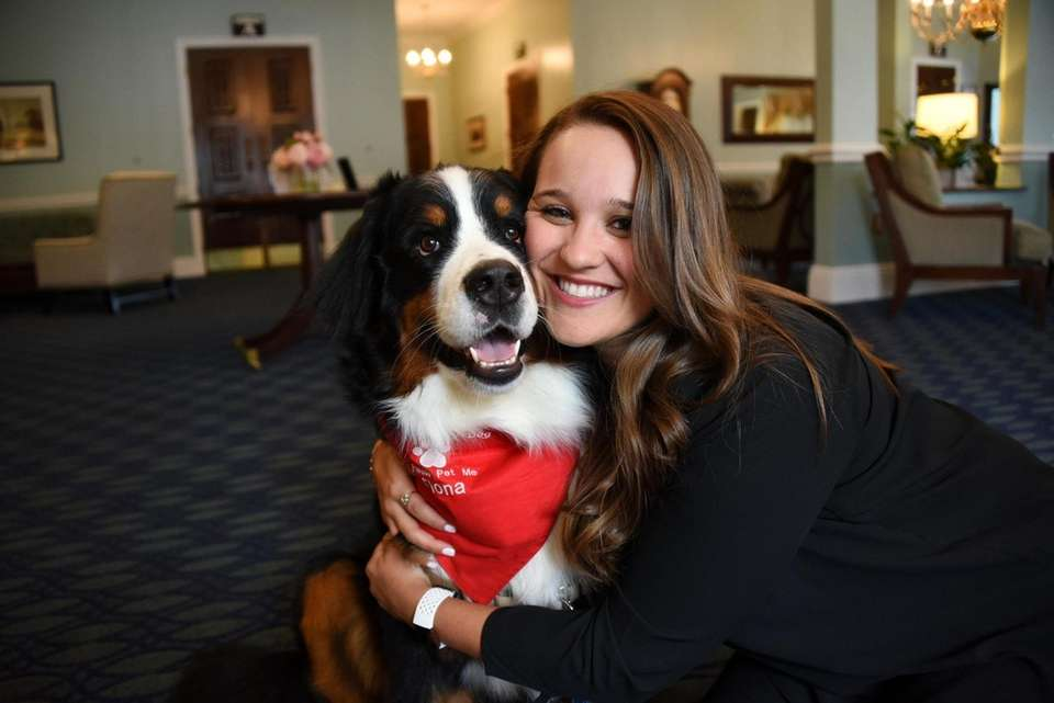 Therapy dog Fiona will make history Wednesday when