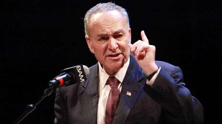 U.S. Sen. Charles E. Schumer (D-N.Y.) and NYPD