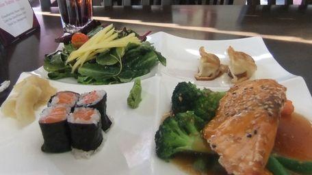 The salmon teriyaki bento plate at Ten Ten
