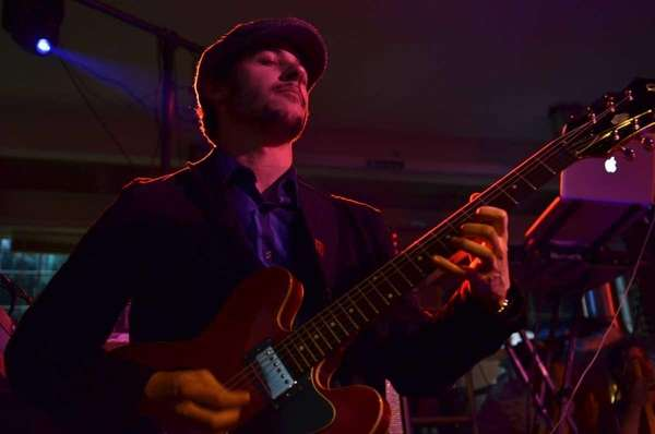 Guitarist Mike DeGiovine, of the band Sir Funktion,