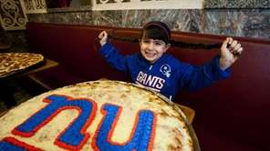 Giants fan Isabella Juliano, 6, of Blue Point,