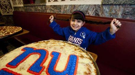 Giants fan Isabella Juliano, 6, of Blue Point,