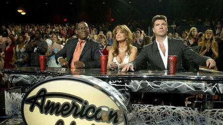 Judges Randy Jackson, Paula Abdul and Simon Cowell