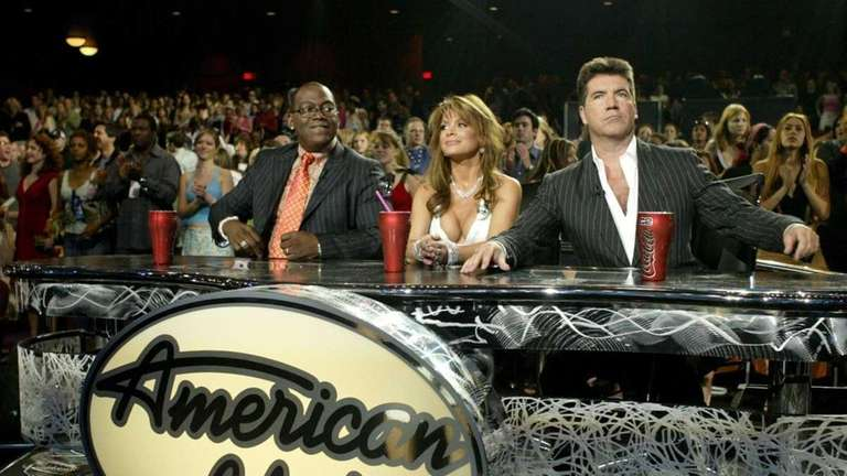 Judges Randy Jackson, Paula Abdul and Simon Cowell