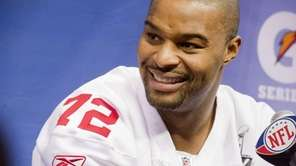 Giants defensive end Osi Umenyiora during Super Bowl