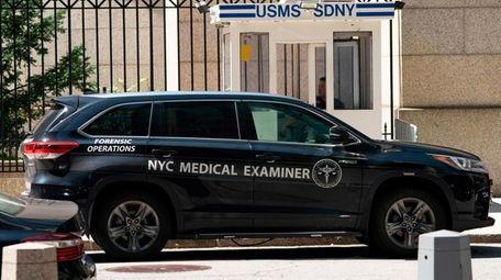 An NYC medical examiner's car outside the Metropolitan
