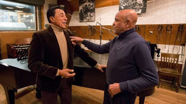 Smokey Robinson, left, and Berry Gordy Jr. in