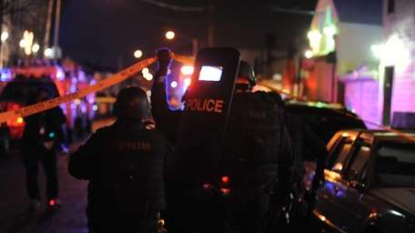 NYPD officers search 370 Bushwick Ave. after Kevin