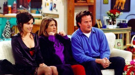 Courteney Cox (from left), Jennifer Aniston and Matthew