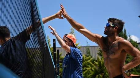 Beach tennis play at Crest Hollow Country Club