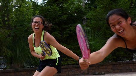 Christine Kong, 17, and Kim Liao, 17, both