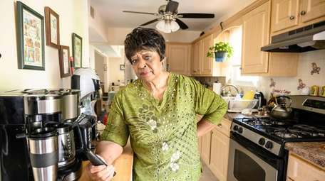 Rosa Thompson at her home in Lakeview earlier
