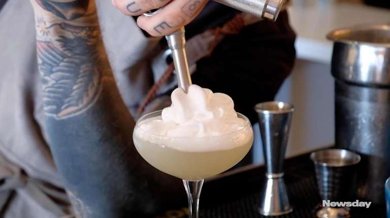 Bar manager Vincent Iovino shows how to make