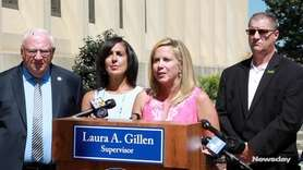 On Monday, Hempstead Supervisor Laura Gillen, spoke at a