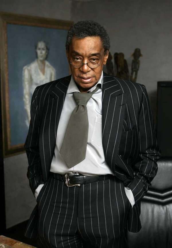 Don Cornelius poses at his office in Los