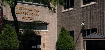 Exterior of the Metropolitan Correctional Center in Manhattan,