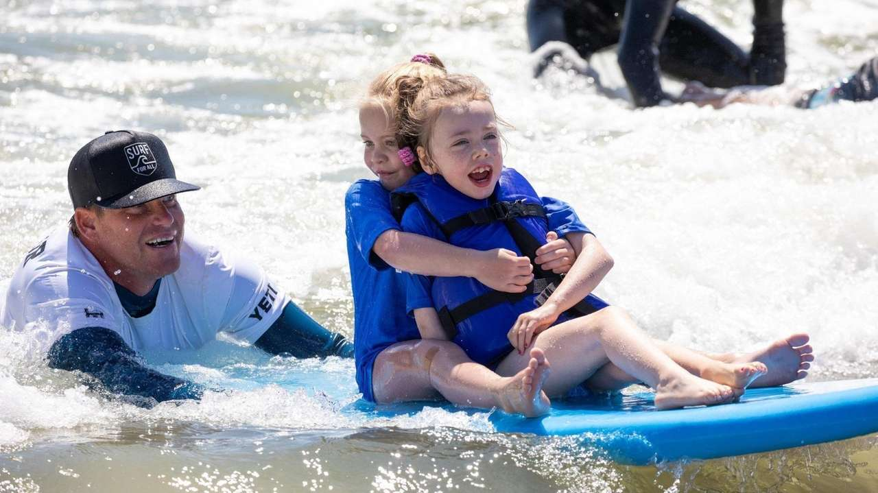 About a dozen youngsters with special needs learned