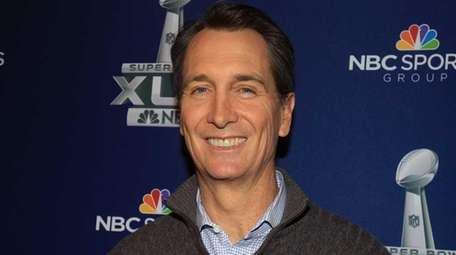 NBC game analyst Cris Collinsworth at the Super