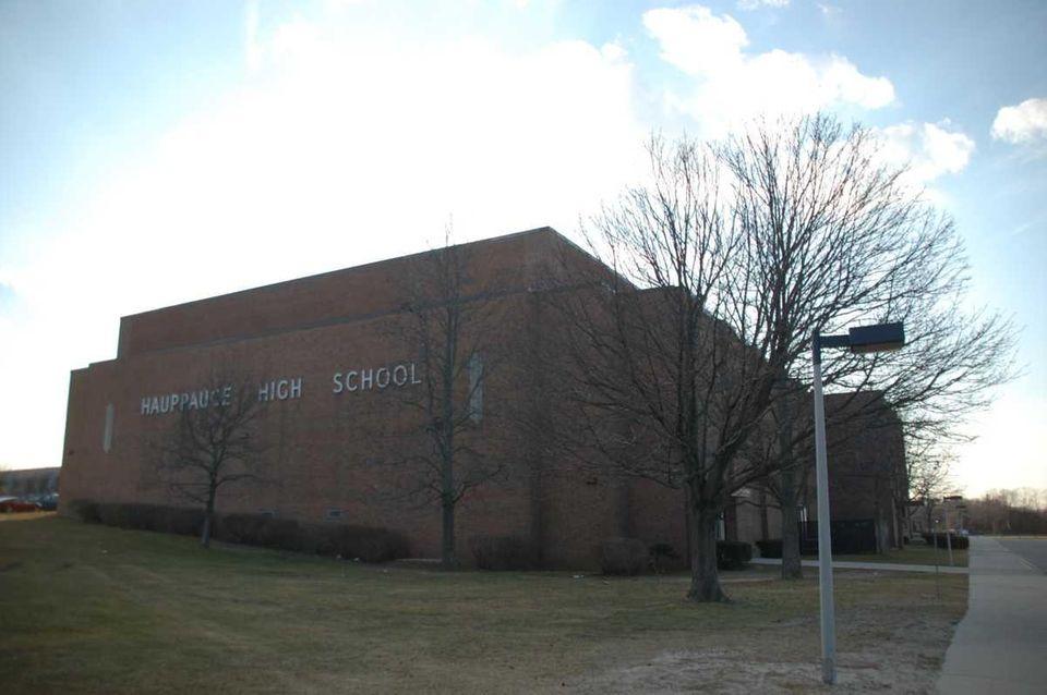 Hauppauge High School (500 Lincoln Blvd., Hauppauge) is
