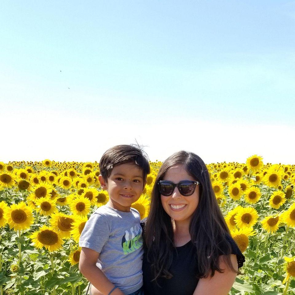 Giovanni Bilello and his mom enjoy North Fork
