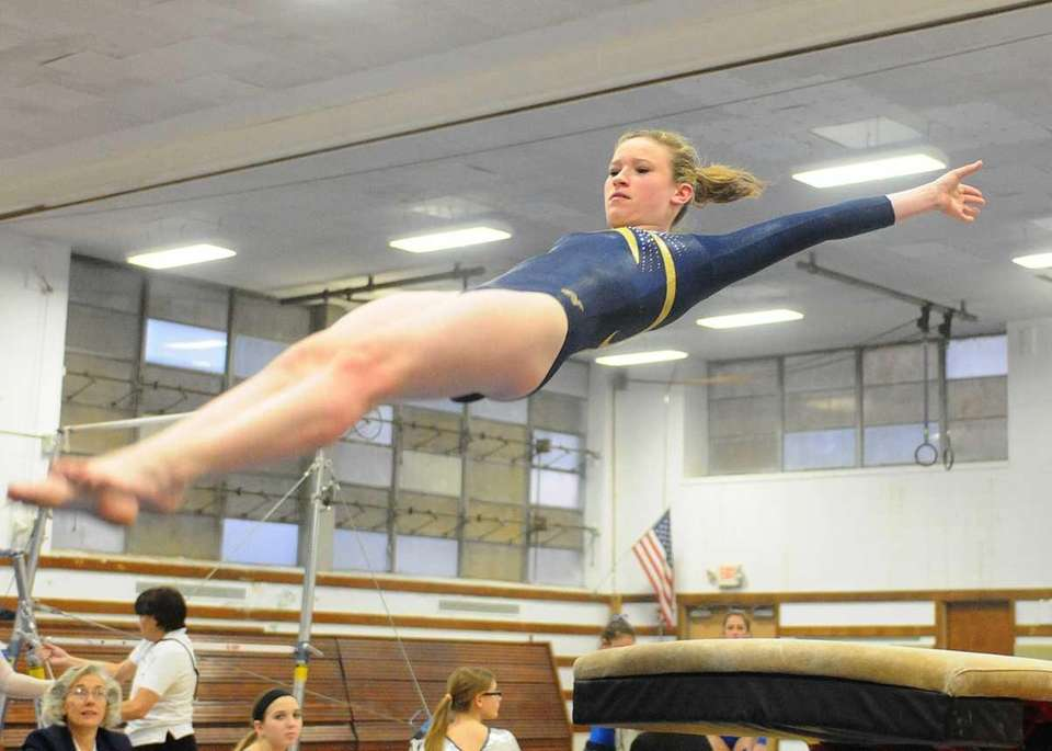 Alexis Fraher of Bethpage High School soars through