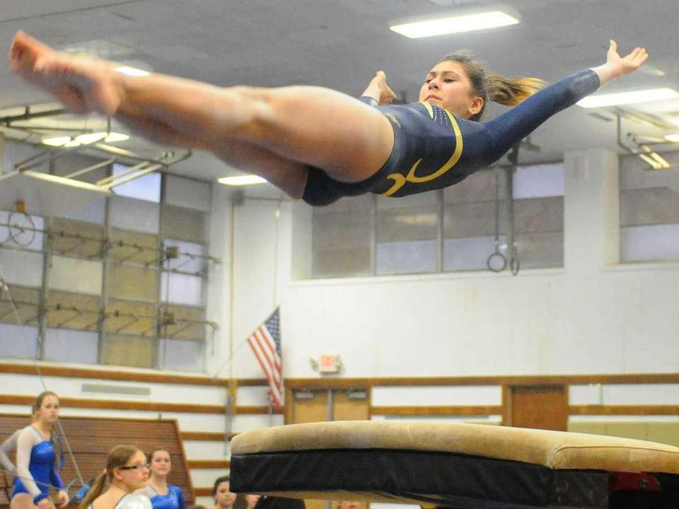 Sarah Ciresi of Bethpage High School soars through