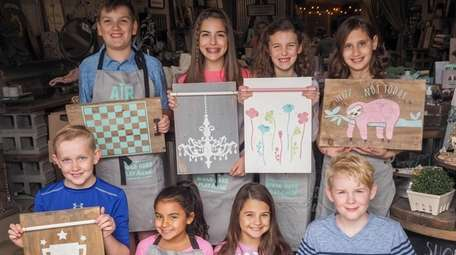 Kids can make home decor projects at AR