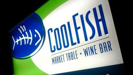 One of the signs leading to CoolFish restaurant