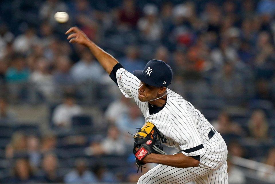 Adonis Rosa #73 of the New York Yankees