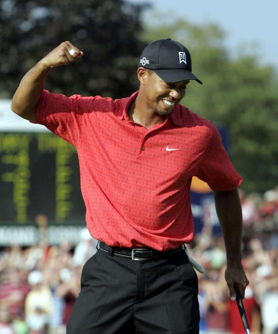 Woods was the first black golfer to take