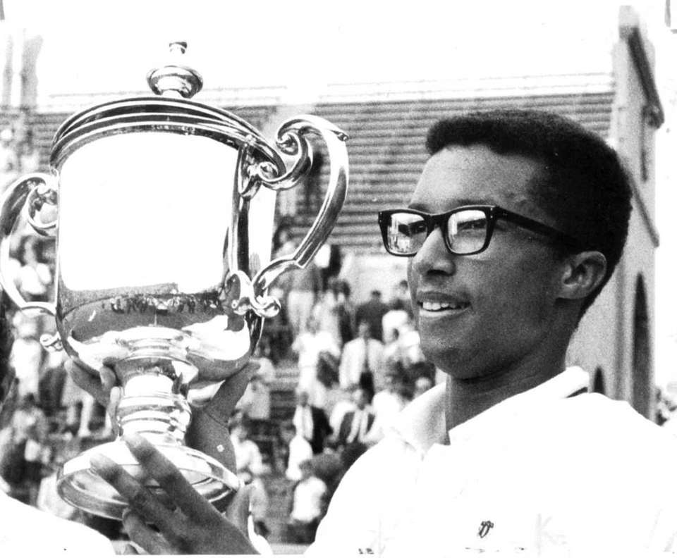 Ashe became the first black man to win