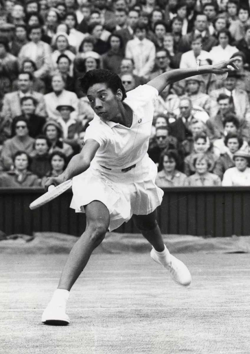 In 1956, Gibson became the first black tennis