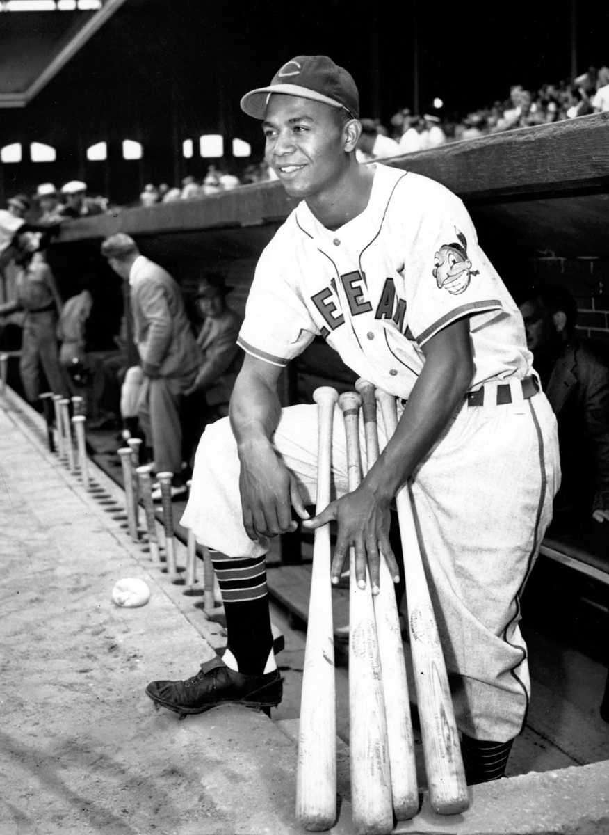 Shortly after Jackie Robinson, Doby was signed by
