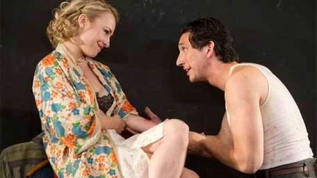 (L to R): Sarah Goldberg and Adam Driver