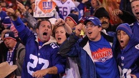 New York Giants fans.