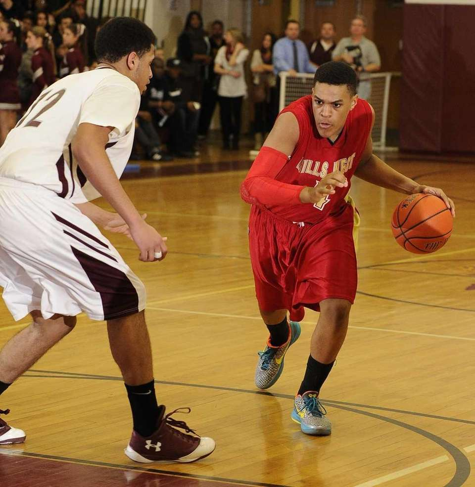 Half Hollow Hills West's Terry Harris drives the