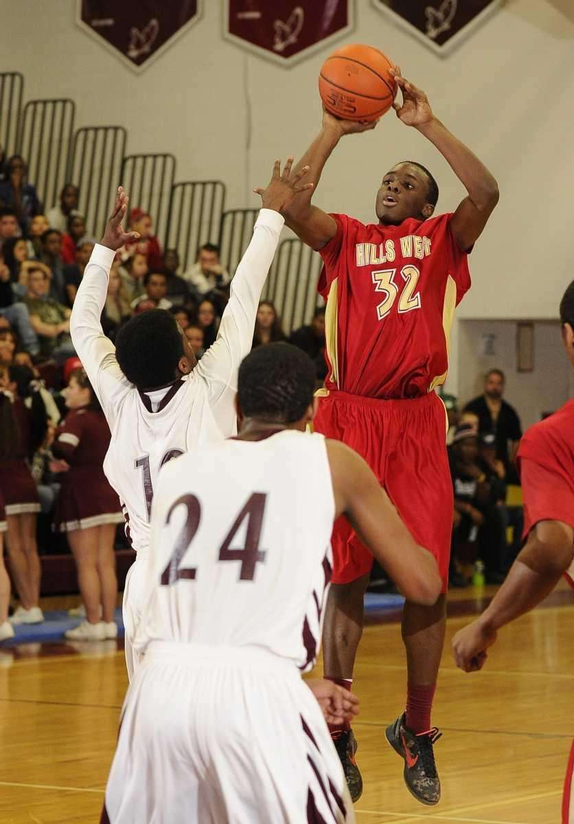 Half Hollow Hills West's Mical Boyd shoots over