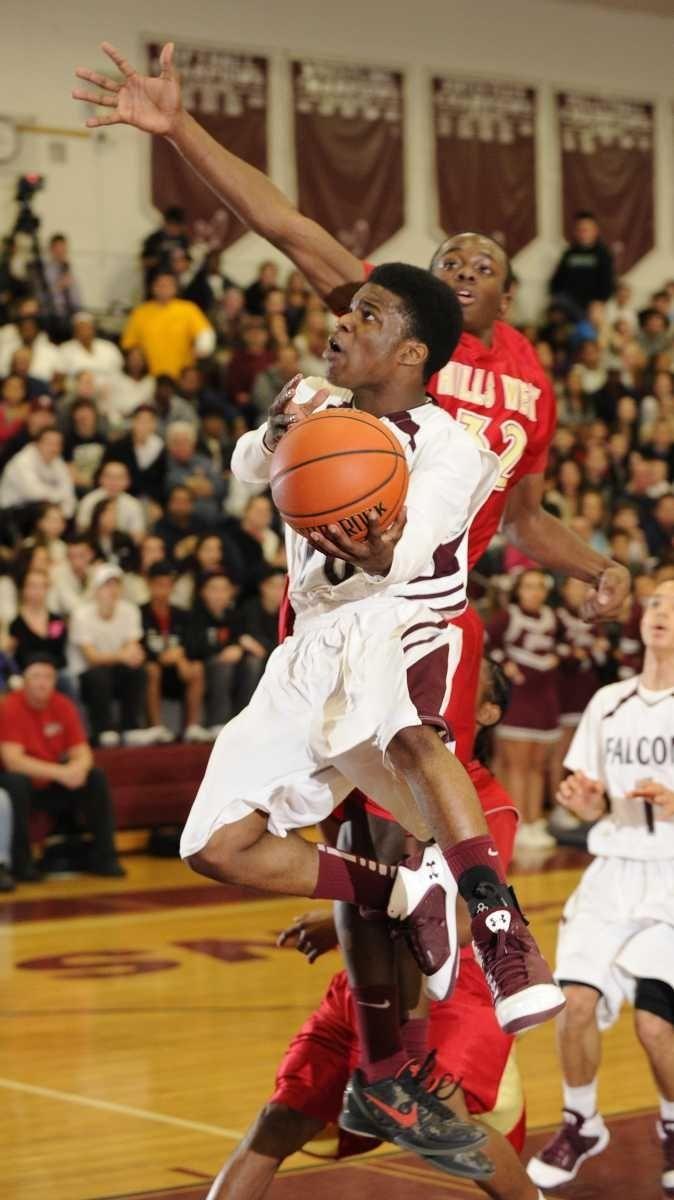 Deer Park's Kyle Bradford goes to the basket