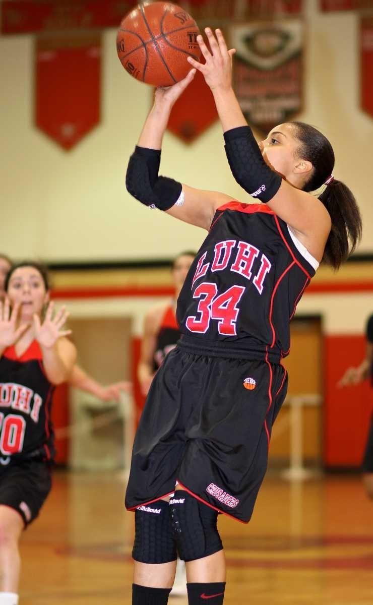 Long Island Lutheran forward Lauren Brozowski shoots a