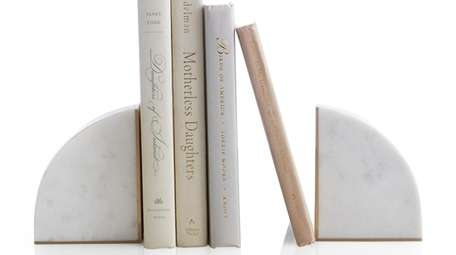 White Marble bookends.